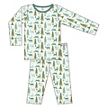 Kickee Pants Print Long Sleeve Pajama Set (Natural Woodland Holiday)
