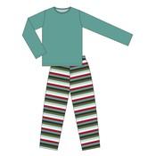 Kickee Pants Men's Print Long Sleeve Pajama Set (Christmas Multi Stripe)