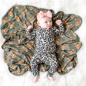 Posh Peanut Lana Leopard Tan Pajamas