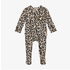 Posh Peanut Lana Leopard Tan Footie Ruffled Snap One Piece
