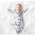 Posh Peanut Wright Flyer Button Knotted Gown 0-3M