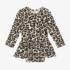 Posh Peanut Lana Leopard Tan Long Sleeve Twirl Skirt Bodysuit