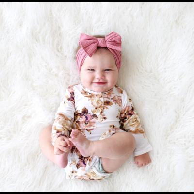 Posh Peanut Reese Floral Henley Twirl Skirt Bodysuit