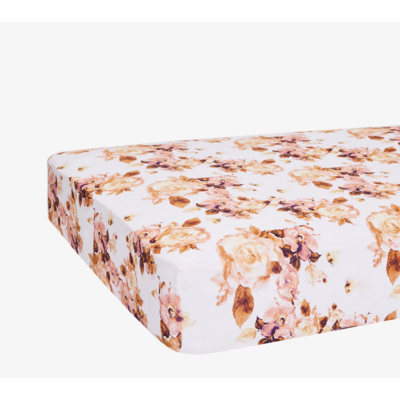 Posh Peanut Reese Floral Crib Sheet