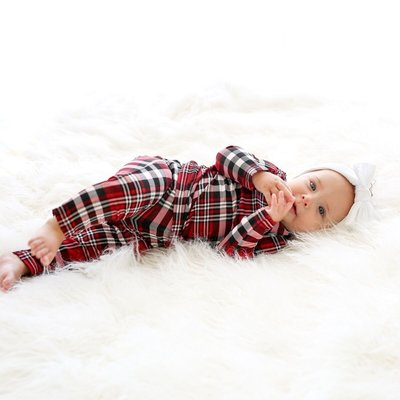 Posh Peanut Noah Plaid Pajamas