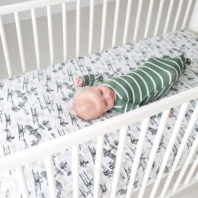 Posh Peanut Wright Flyer Crib Sheet