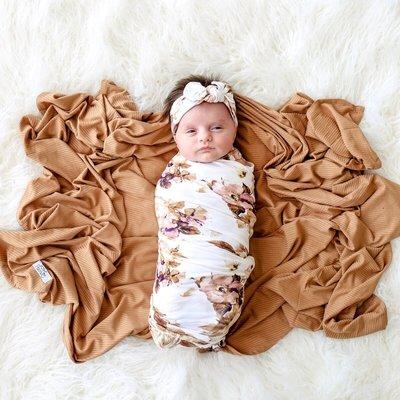 Posh Peanut Reese Floral Swaddle Set