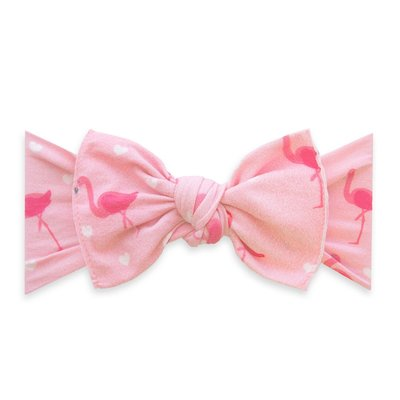 Baby Bling PRINTED KNOT: flamingo hearts