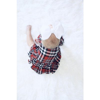 Posh Peanut Noah Plaid - Long Sleeve with Twirl SkirtBodysuit