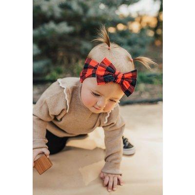 Baby Bling PRINTED KNOT: lumberjack