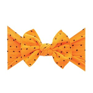 Baby Bling PATTERNED SHABBY KNOT: orange black dot