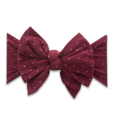 "Baby Bling DANG ENORMOUS BOW: burgundy dot ""DEB"""