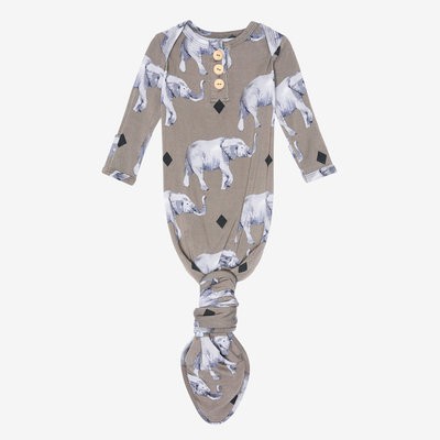 Posh Peanut Rocco Elephant Button Knotted Gown