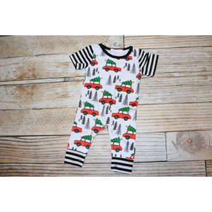 Lincoln&Lexi The Christmas Tree & Truck Romper