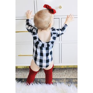 Lincoln&Lexi The Buffalo Check Ruffle Romper