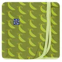 Kickee Pants Print Swaddling Blanket (Grasshopper Sweet Peas - One Size)