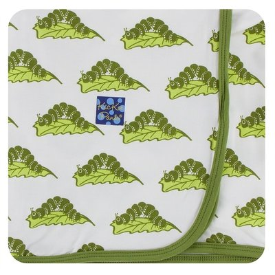 Kickee Pants Print Swaddling Blanket (Natural Caterpillars - One Size)