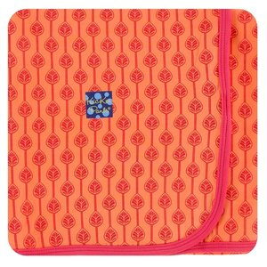 Kickee Pants Print Swaddling Blanket (Nectarine Leaf Lattice - One Size)