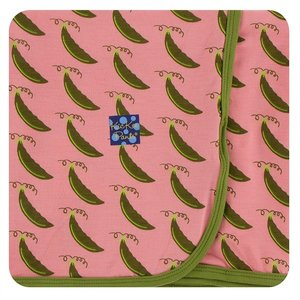 Kickee Pants Print Swaddling Blanket (Strawberry Sweet Peas - One Size)