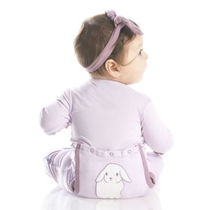 Kickee Pants Holiday Layette Applique Coverall (Thistle Lop Eared Bunny)