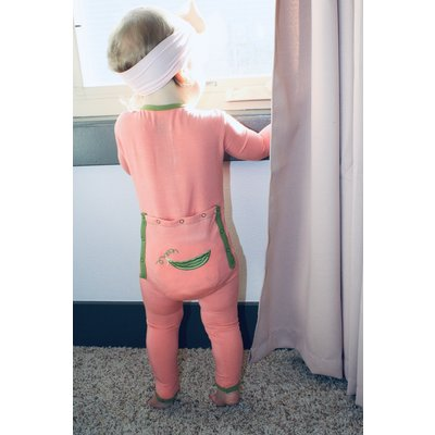 Kickee Pants Applique Coverall with Zipper (Strawberry Sweet Peas)
