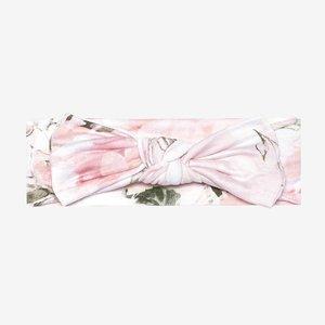 Posh Peanut Vintage Pink Rose Headwrap