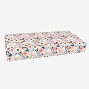 Posh Peanut French Gray Floral Crib Sheet