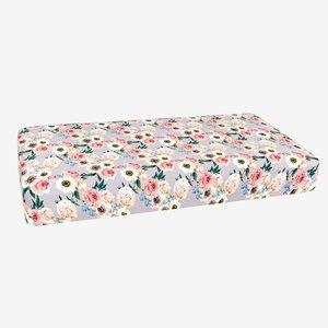 Posh Peanut French Gray Floral Crib Sheet