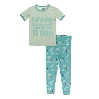 Kickee Pants Short Sleeve Piece Print Pajama Set (Neptune Chemistry Lab)