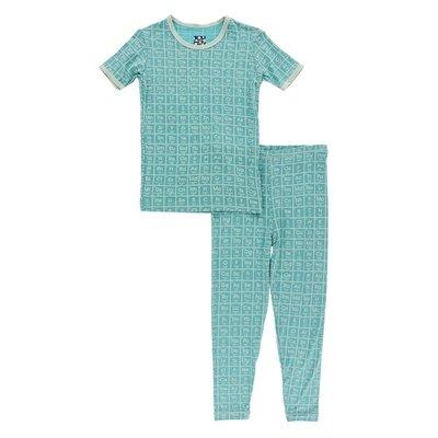 Kickee Pants Print Short Sleeve Pajama Set (Neptune Elements)