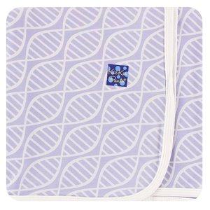 Kickee Pants Print Swaddling Blanket (Lilac Double Helix - One Size)