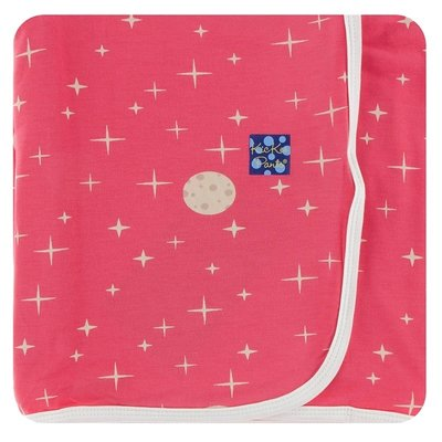 Kickee Pants Print Swaddling Blanket (Red Ginger Full Moon - One Size)
