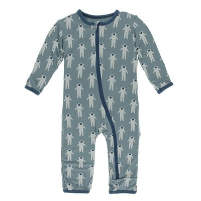 Kickee Pants Print Coverall with Zipper (Dusty Sky Astronaut)