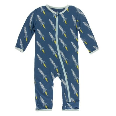 Kickee Pants Print Coverall with Zipper (Twilight Rockets )
