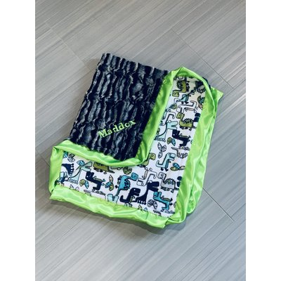Lincoln&Lexi Roar! Cuddle® Teal
