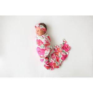 Posh Peanut Maui - Infant Swaddle and Headwrap Set