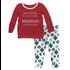 Kickee Pants Holiday Long Sleeve Pajama Set (Natural Vintage Ornaments)