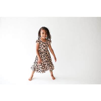 Posh Peanut Sasha - Ruffled Capsleeve Twirl Dress 2T