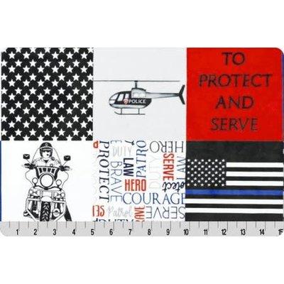Lincoln&Lexi Police Digital Cuddle® Blue Line