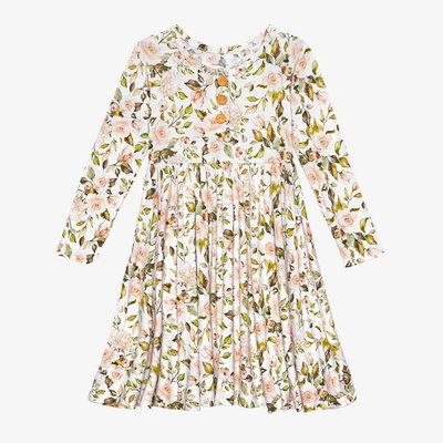 Posh Peanut Katherine - Long Sleeve Henley Twirl Dress
