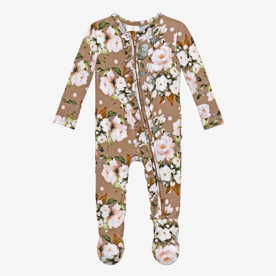 Posh Peanut Leona - Footie Ruffled Zippered One Piece