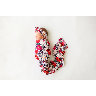 Posh Peanut Chloe - Infant Swaddle and Headwrap Set