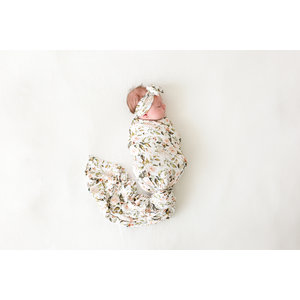 Posh Peanut Katherine - Infant Swaddle and Headwrap Set