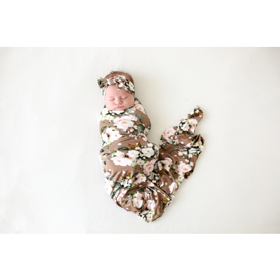 Posh Peanut Leona - Infant Swaddle and Headwrap Set