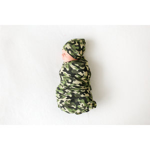 Posh Peanut Cadet - Infant Swaddle and Headwrap Set