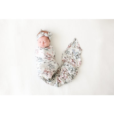 Posh Peanut Daniella - Infant Swaddle and Headwrap Set