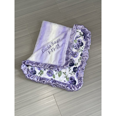 Lincoln&Lexi Luxe Cuddle® Angora Lavender/White