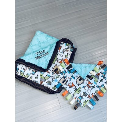 Lincoln&Lexi Pow Wow Cuddle® Teal