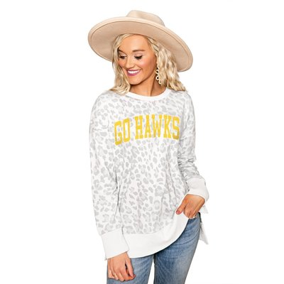 """Gameday Couture IOWA HAWKEYES """"DAY OFF"""" CREW NECK SIDE-SLIT FRENCH TERRY PULLOVER"""