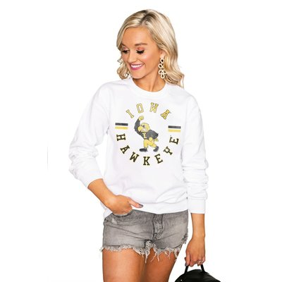 "Gameday Couture IOWA HAWKEYES ""VINTAGE DAYS"" Perfect Crew Sweatshirt"